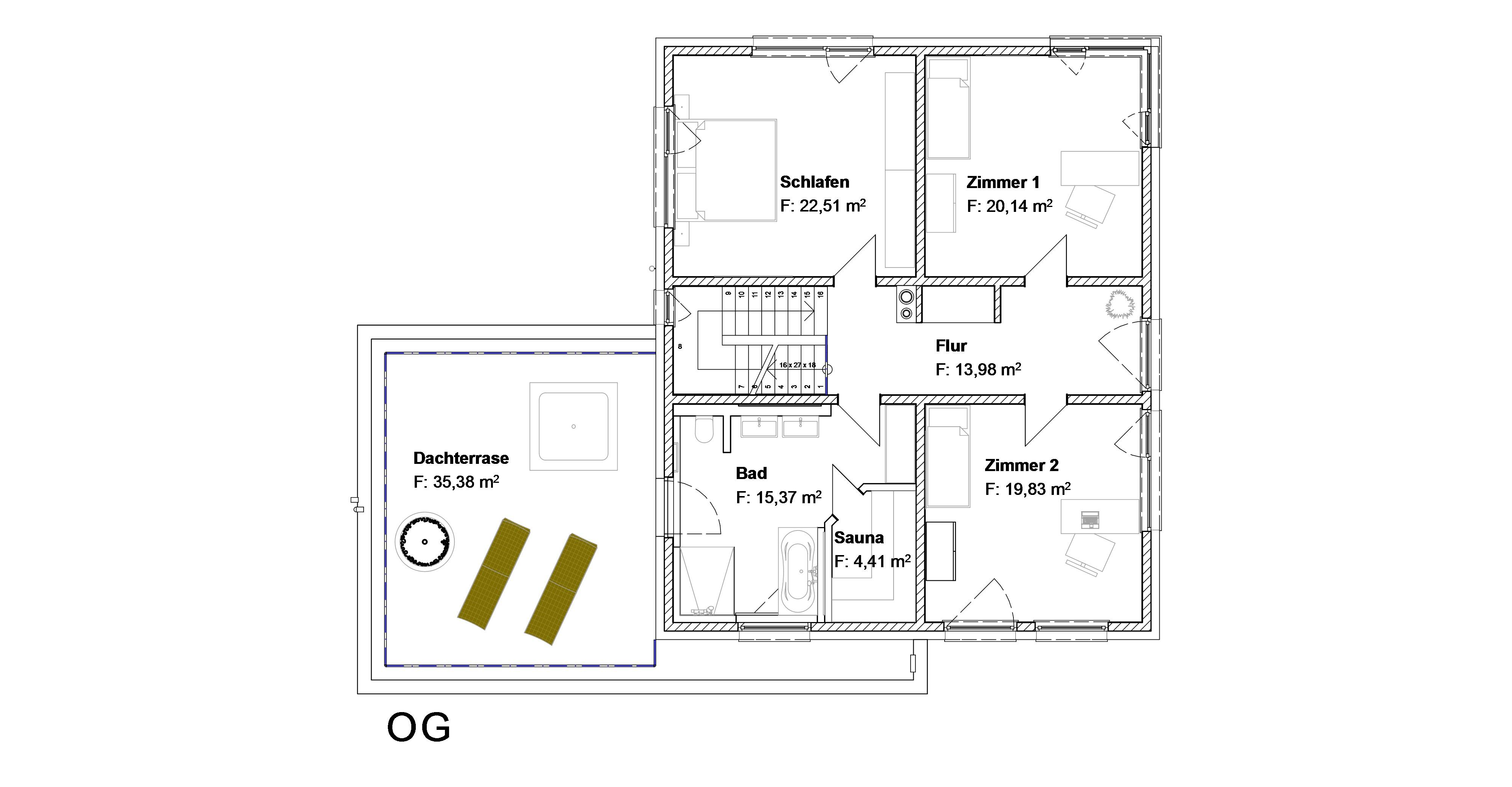 efh mit 190 qm wohnfl che und doppelgarage erka bauplanung gmbh. Black Bedroom Furniture Sets. Home Design Ideas